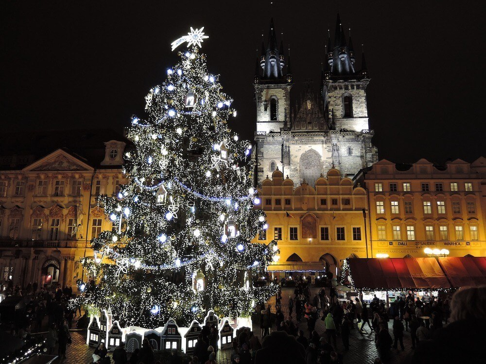 Old Town Hall tower prague and Old Town clock Prague are amazing at Christmas time