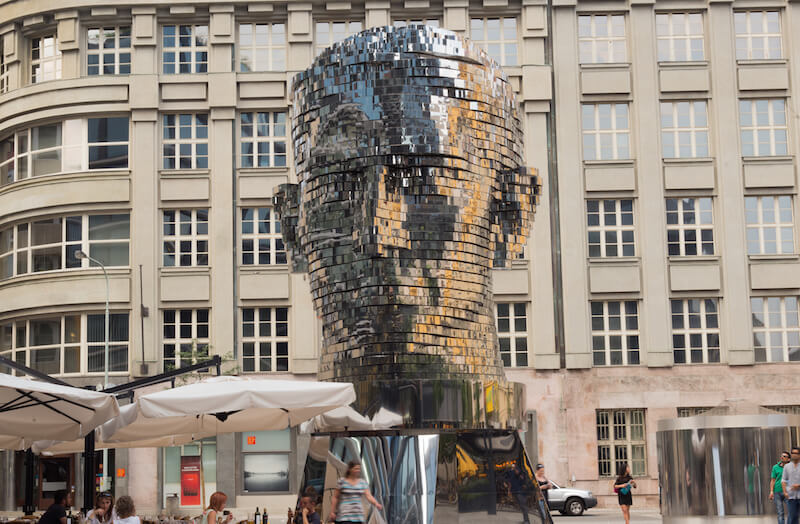 Kafkas Head Sculpture Prague