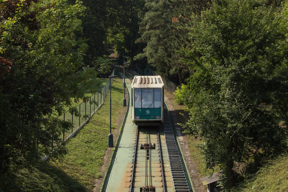Petrin Hill Cable car near Mala Strana Prague