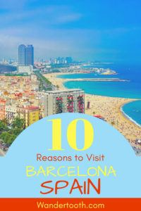 Planning a Spain holiday? Click to read our 10 reasons why you should visit Barcelona, Spain's most dynamic city on the coast. Fantastic food and drinks, history, architecture, culture and more - it's perfect for a city break and a beach vacation. And, of course, Barcelona has plenty of sunshine! #Spain #Barcelona #Travel #Holiday #CityBreak