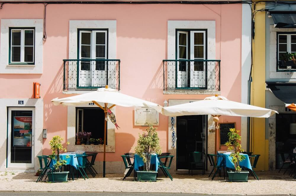 Many cafes and restaurants on and near Avenida da Liberdade Lisbon