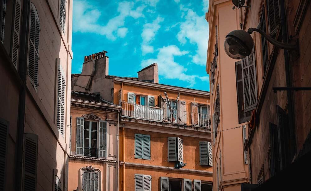 Wonderful buildings in Nice France