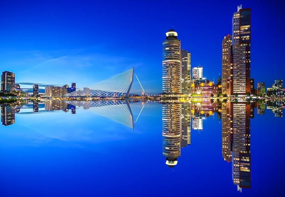 Erasmus bridge Best Rotterdam photos locations