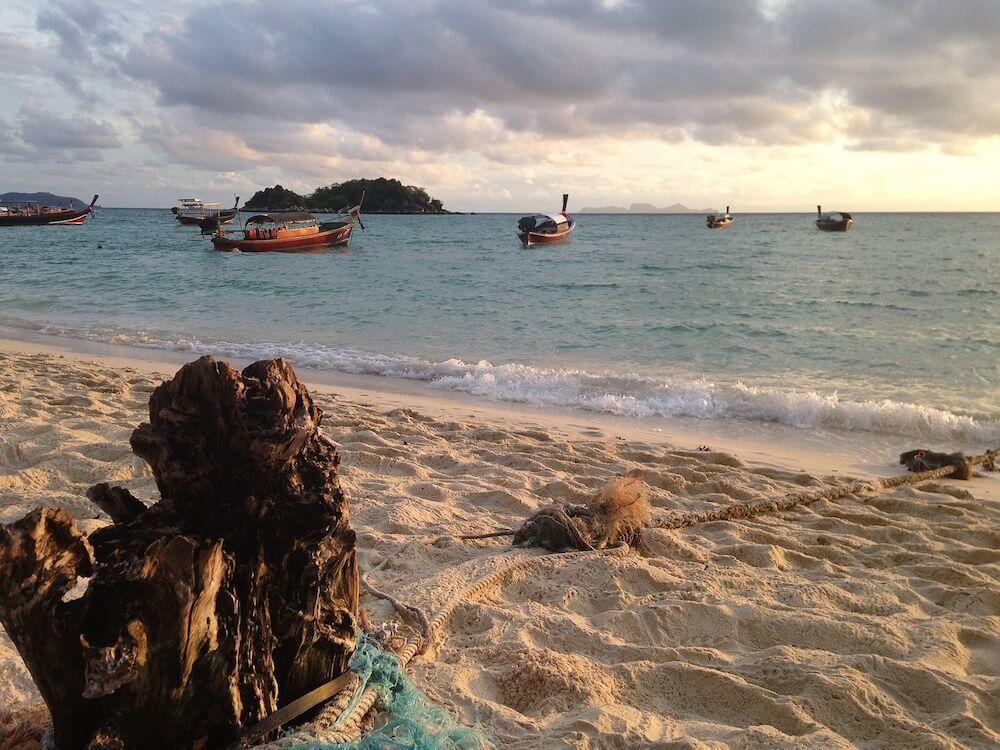 The beach on Koh Lipe Island Thailand