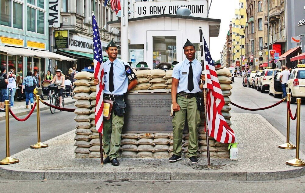 Checkpoint Charlie in Kreuzberg Berlin