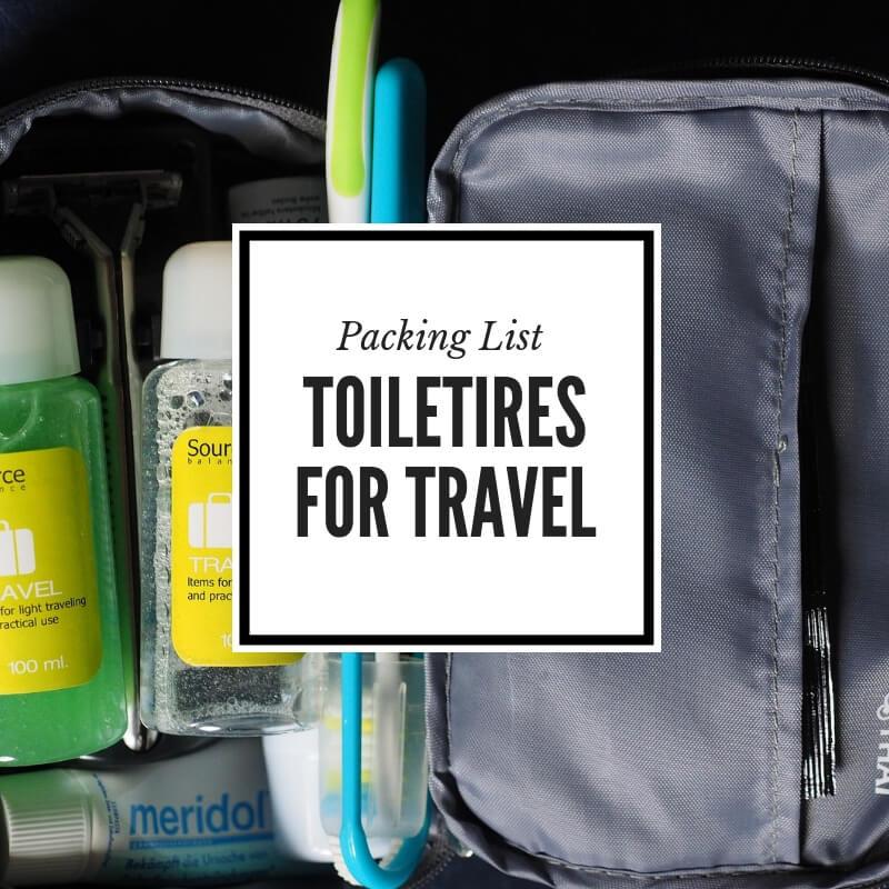 Toiletries List for Travel