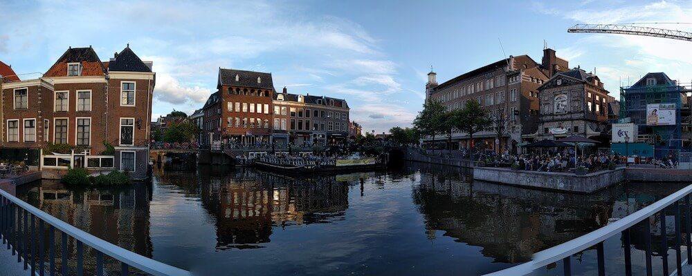Leiden Netherlands canal