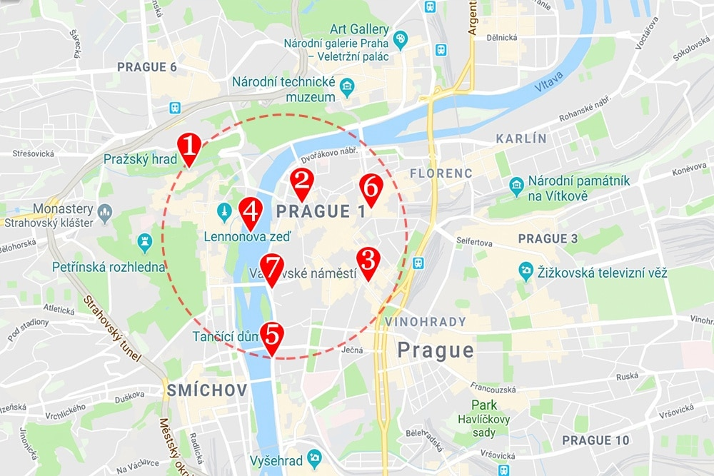 Prague neighborhood map of prague where to stay in prague