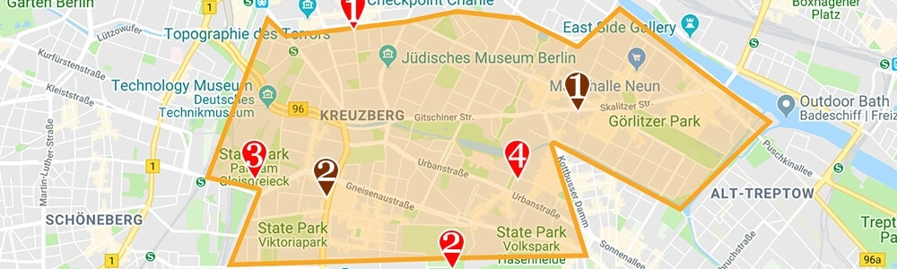 Where to stay in Berlin neighborhood map kreuzberg