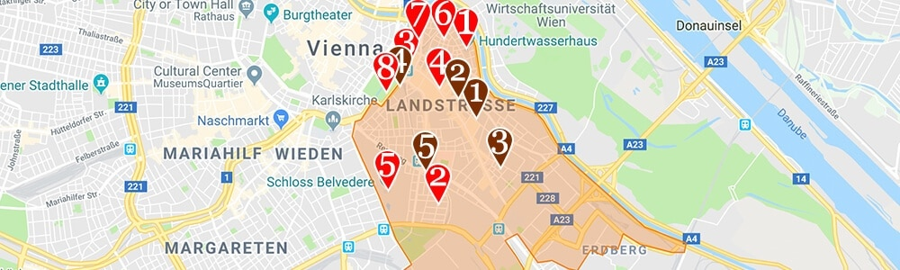 Where to Stay in Vienna neighborhood map Landstrasse