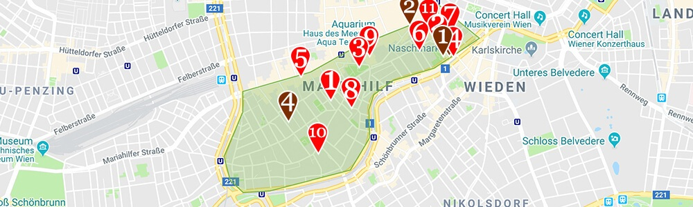 Where to Stay in Vienna neighborhood map Mariahilf