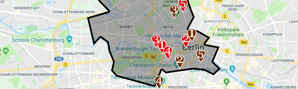 Where to stay in Berlin neighborhood map Mitte