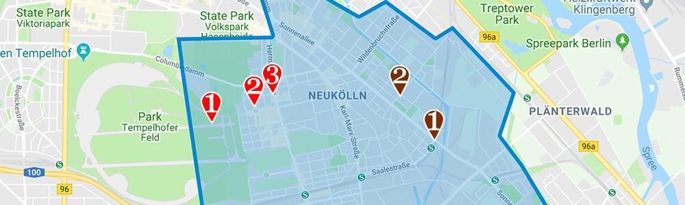 Where to stay in Berlin neighborhood map Neukolln