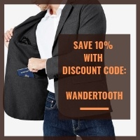 Mens Travel Blazer discount code