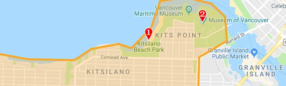 Vancouver neighborhood map kitsilano