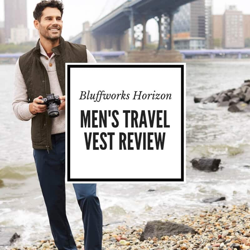 Bluffworks mens travel vest with hidden pockets review