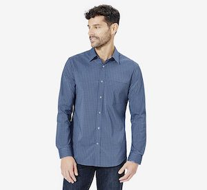 lightweight jeans for travel with a travel dress shirt