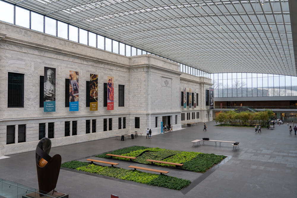 Interior of the Cleveland Art museum