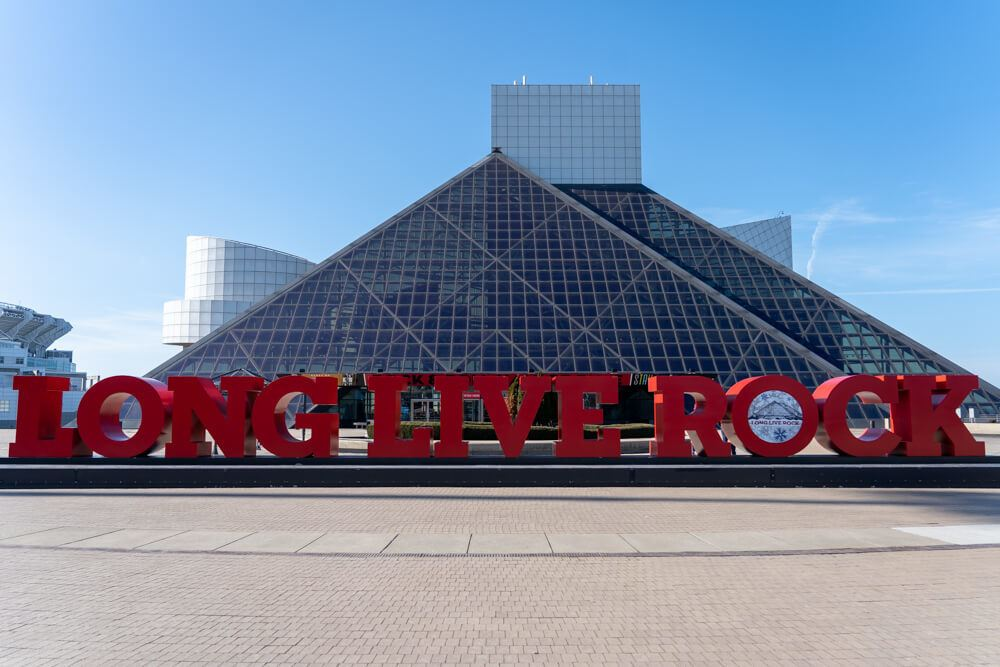 Rock Hall Exterior in Cleveland Ohio