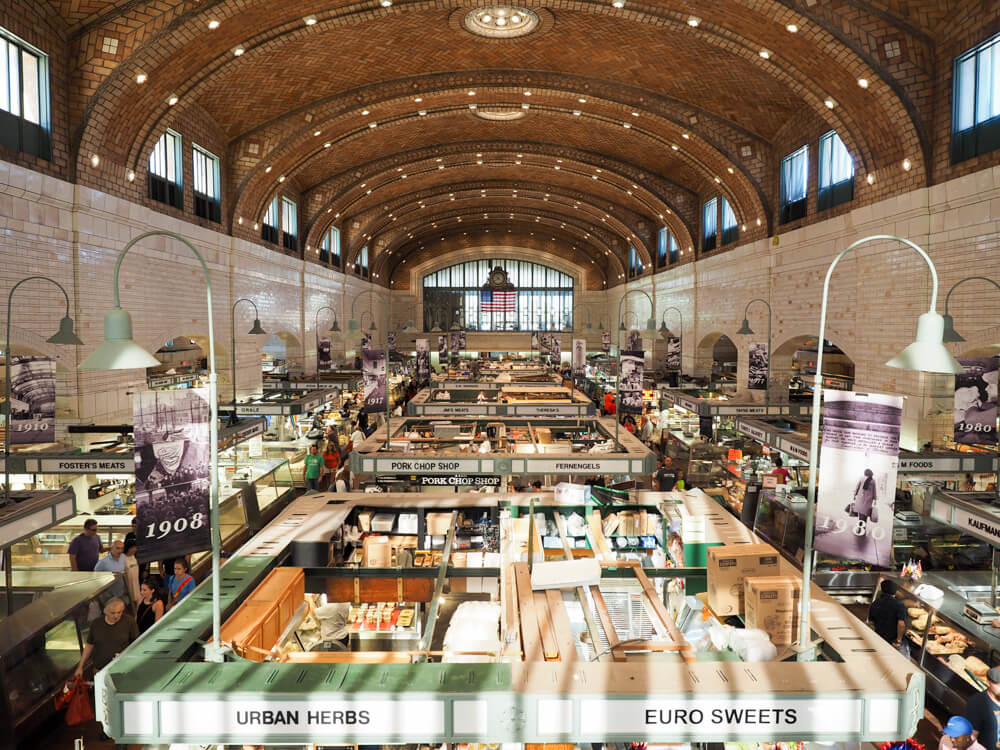 Interior of the West Side Market Cleveland Ohio