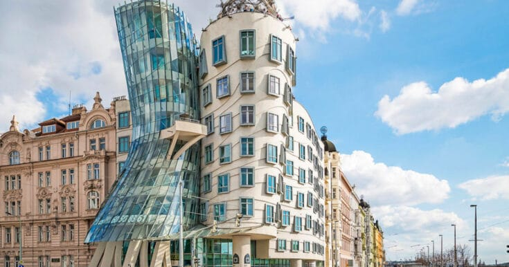 Visit the Dancing House Gallery and Rooftop