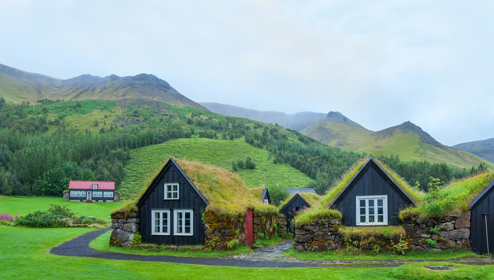 Traditional homes in Iceland