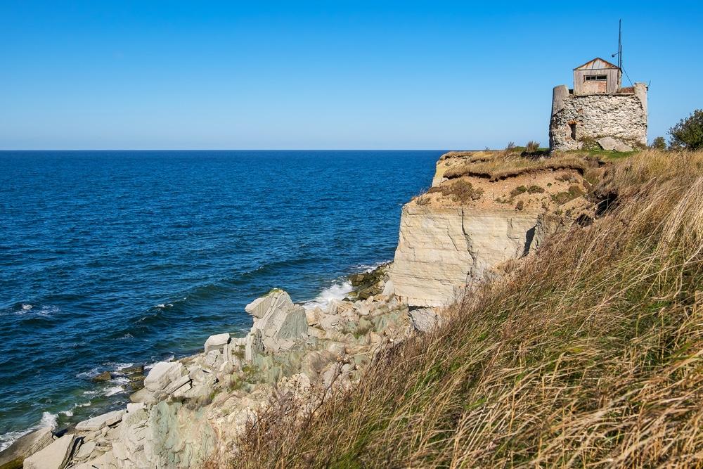 Rocky cliffs of Paldiski. Pakri peninsula, Baltic sea, Estonia