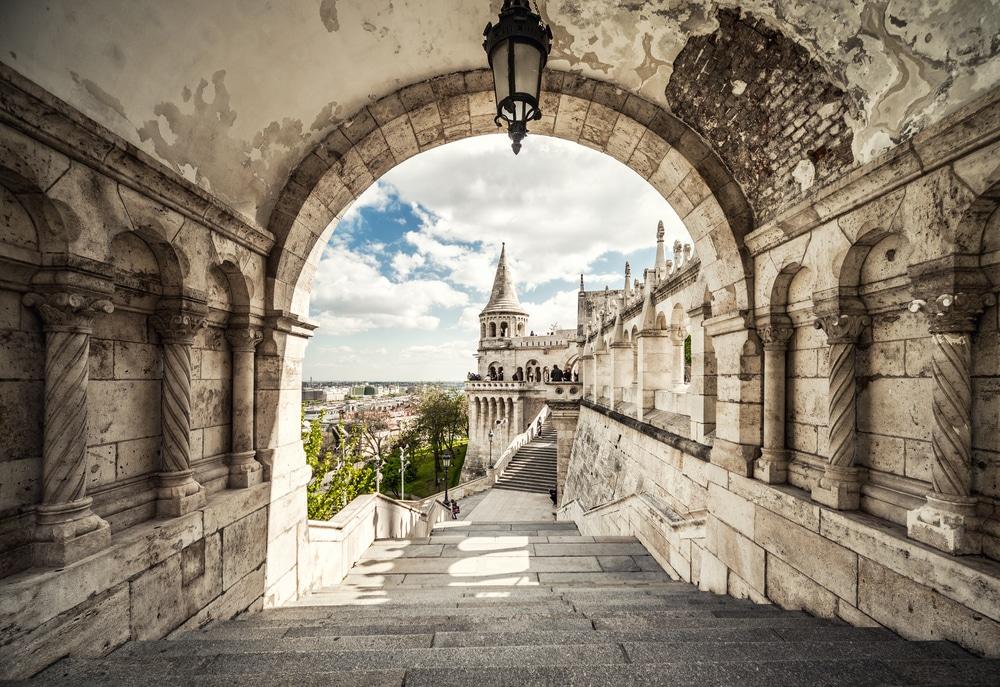 Fisherman's Bastion. Budapest city. Hungary