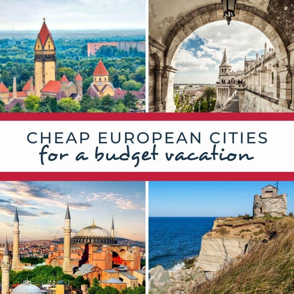 budget european cities