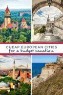 cheap european cities