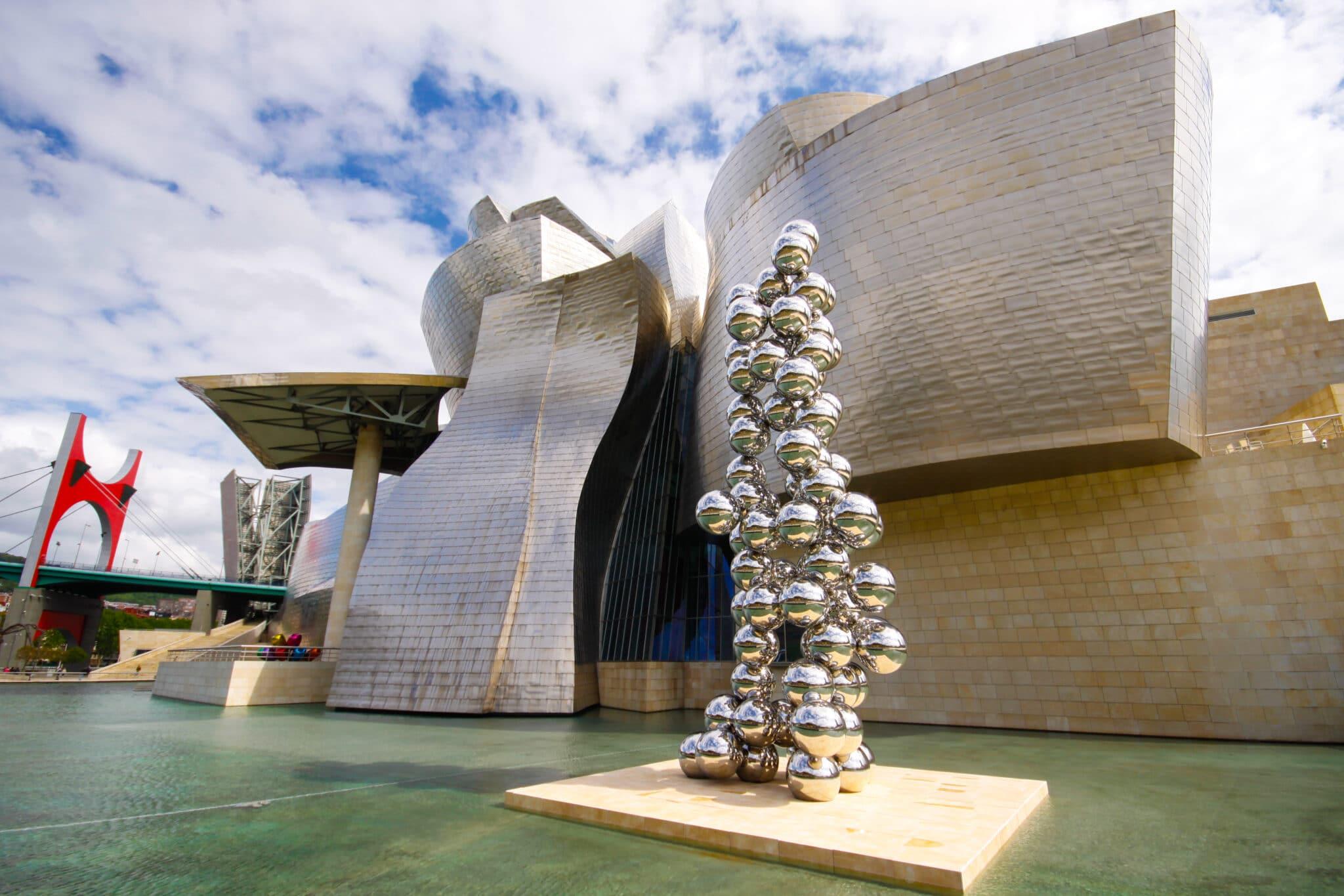 Exterior of Guggenheim museum in Bilbao, Basque, Spain