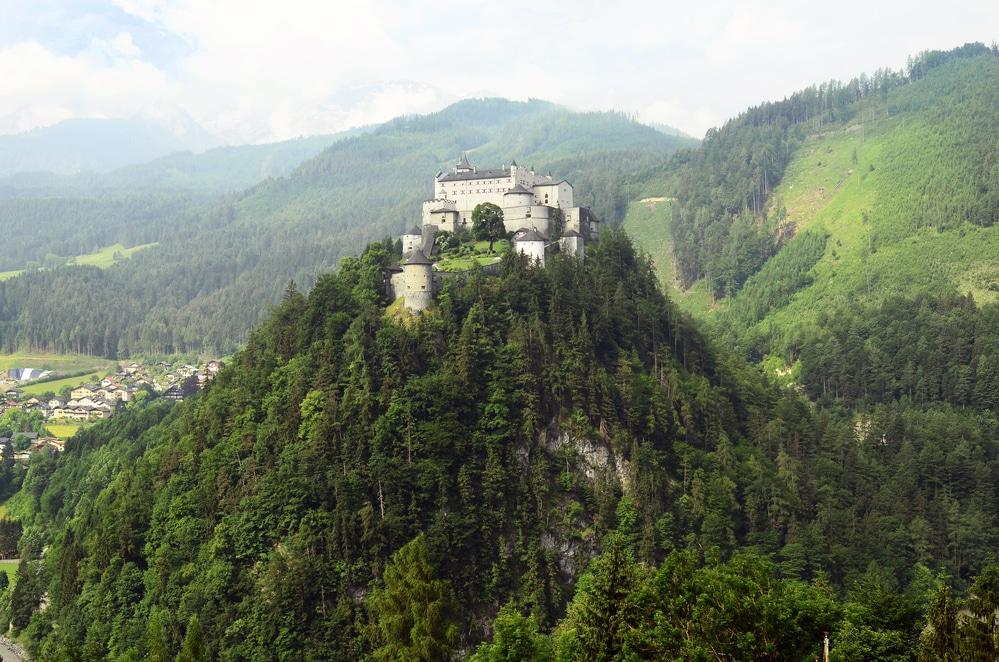 Austria, castle Hohenwerfen in Pongau valley - former film location