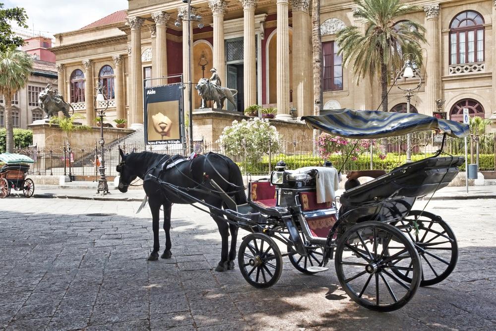 Palermo, Sicily. Teatro Massimo Vittorio Emanuele, third largest opera house in Europe