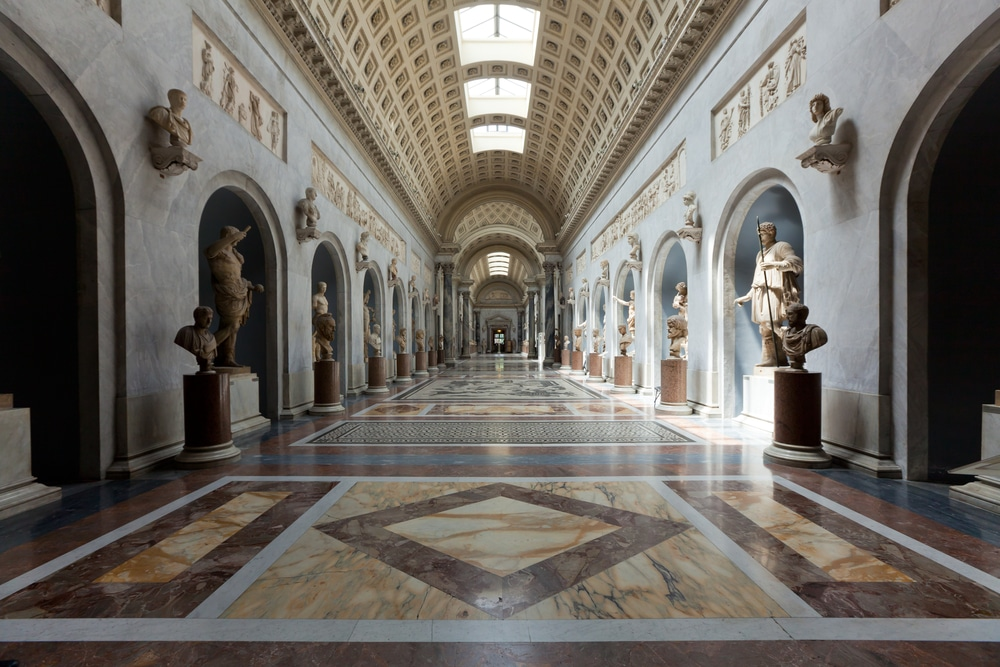 Marble Roman sculptures section Vatican Museum Rome Italy